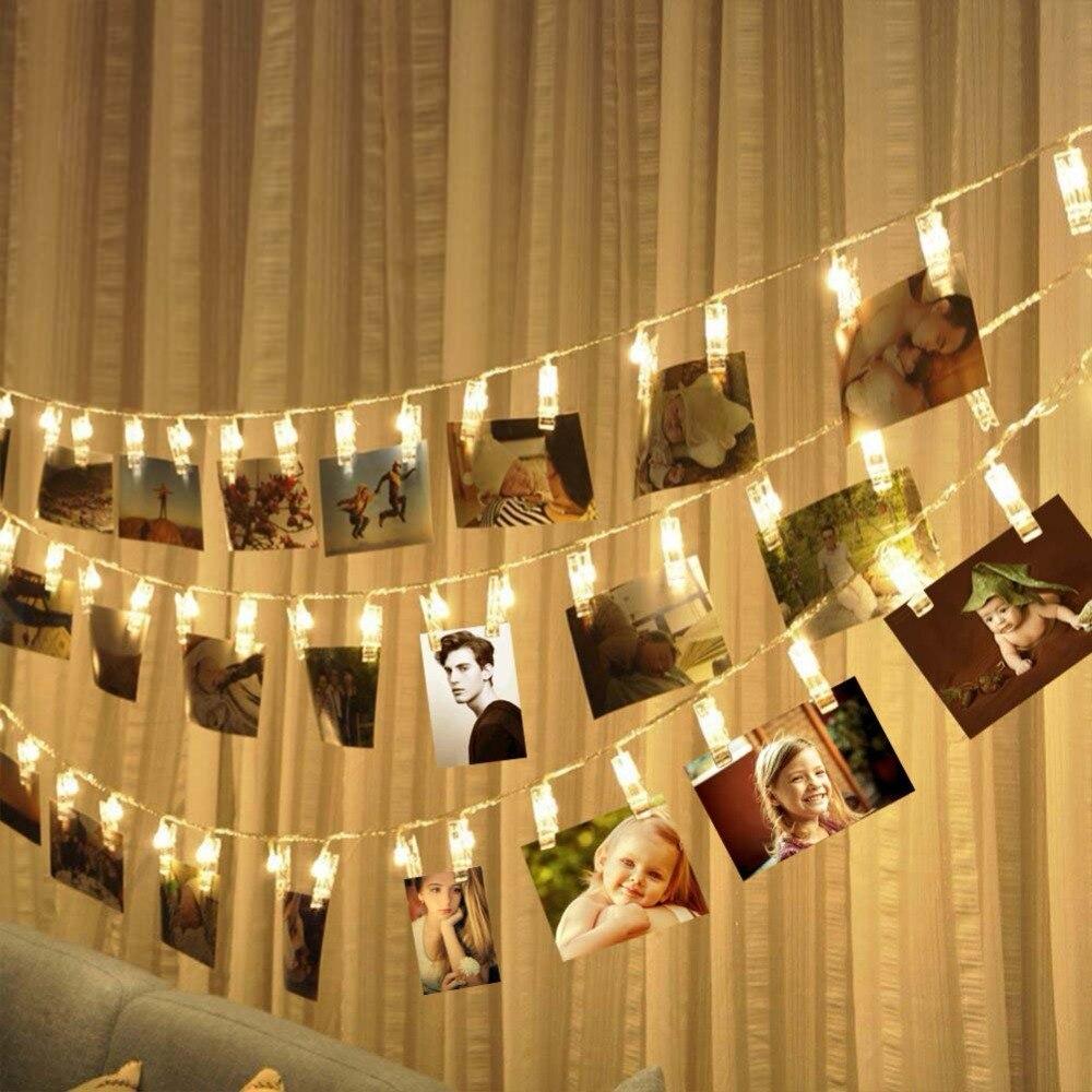 1-2M Photo Clip LED String light Personalized Wedding Decor...