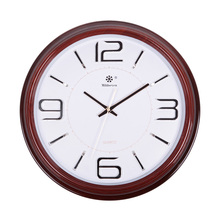 Después de 2016 nuevos negocios durante todo el día rojo clásico reloj de pared de madera relojes antiguos moderna clasicismo estilo