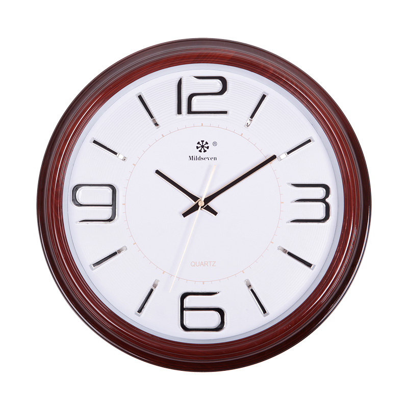 After 2016 new business round the clock classic red wood wall clock antique clocks modern classicism style