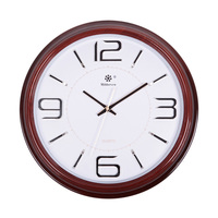 Circle Clock Circle Wall Clock Wall Clock Commercial Wall Clock Classic Red Wood Grain Clock And