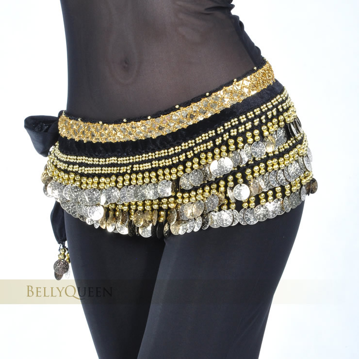 2019 Belly Dance Costume Clothes Indian Dance Belt Bellydance Waist Chain Hip Scarf Women Girl Dance With 248 Gold Coin 10 Color