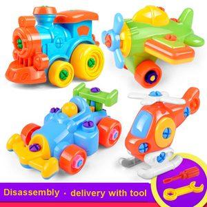 Image 2 - 3D פאזל פירוק צעצוע Moto מסוק מטוסי רכבת DIY בורג אגוז קבוצת מותקן ילדים צעצועים לילדים מתנת יום הולדת