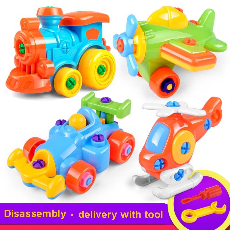 Image 2 - 3D головоломка игрушка конструктор мото вертолет Поезд Самолет винт DIY Гайка Группа установлен детские игрушки для детей подарок на день рождения-in Навинчивающиеся блоки from Игрушки и хобби on AliExpress - 11.11_Double 11_Singles' Day