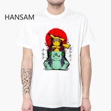 cc139469c Pokemon Anak Laki-laki T-shirt Pendek Jepang Kartun Tshirt Pria Lucu Cetak  Putih