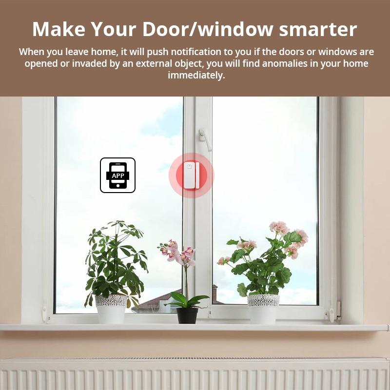 FUERS 5 pièces sécurité à domicile sans fil WiFi vie intelligente sécurité porte fenêtre alarme capteur détecteur Amazon Alexa Compatible APP contrôle - 4