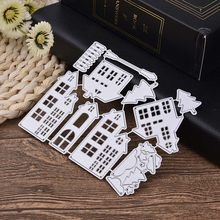 Cutting Dies Christmas House Fustelle Metalliche Per Scrapbooking Dies Metal Craft Die Cut Stamps Embossing Card Making Decor(China)