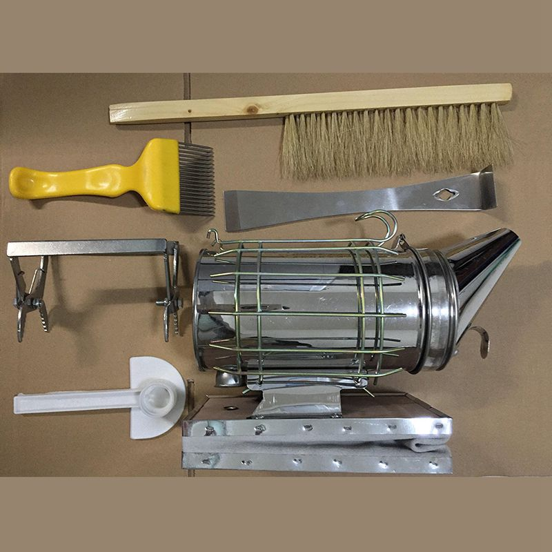 Beekeeping Tool Kit Set of 6 Bee Hive Smoker,Bee Brush Beekeeping Accessory NEW