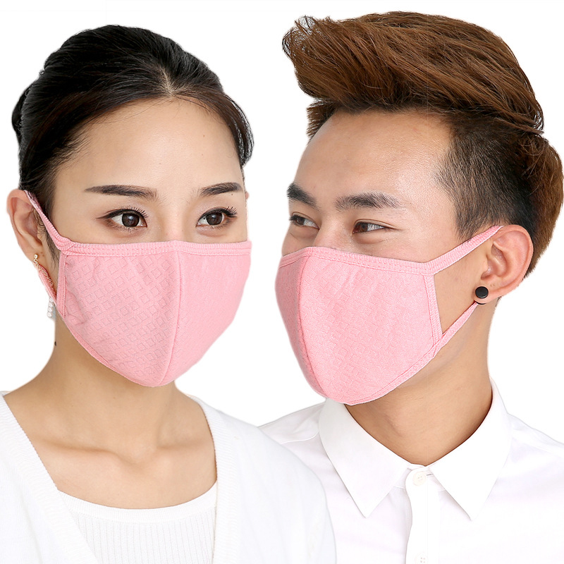 Sale PM2.5 Mouth Mask Solid Anti Dust Mask Nose Filter Windproof Face Muffle Bacteria Flu Fabric Masks
