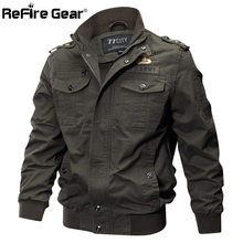 Military Pilot Bomber Jacket for Male