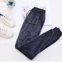 Rihschpiece Winter Plus Size 3XL Velvet Pants Women Elastic High Waist Harem Pant Warm Loose Fleece Sweatpants Trousers RZF1410 4