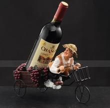 031517 Resin wine rack creative fashion contemporary household Old man of the white iron cycling clothes