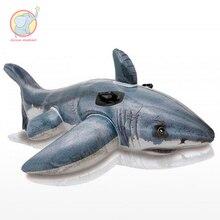 173 см надувной Акула езда Кит Бассейн плавательный пояс для плавания кольцо плавать круг воздушный матрас водные игрушки для детей взрослых пляжные Вечерние