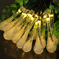 Waterproof Solar LED String Colorful Holiday light Fairy Light With 30 LEDs Ball Solar Lamp for Christmas Wedding Festival Party