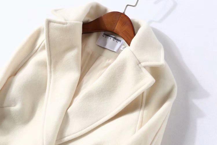 B2 Et Lâche Chaud Noir Vêtements La Taille Mélanges 5xl Casual De Épais 890 Hiver Manteaux Pardessus Femmes Plus blanc Automne Laine Mode wrBaIZFxrq