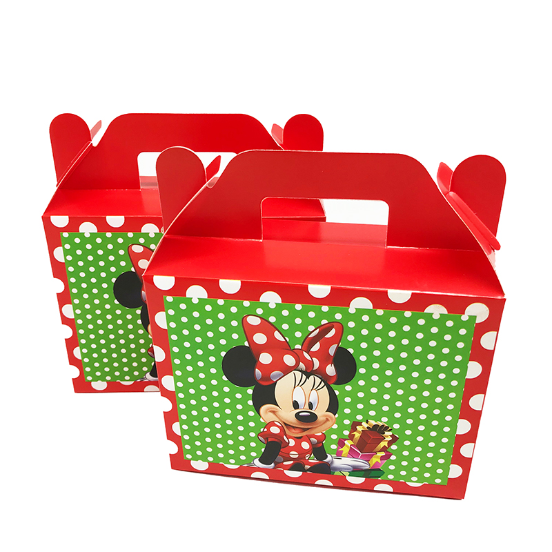 NEW 6PCS/LOT MINNIE CANDY BOXES MINNIE BIRTHDAY PARTY FAVORS MINNIE MOUSE THEME GIFT BOXES