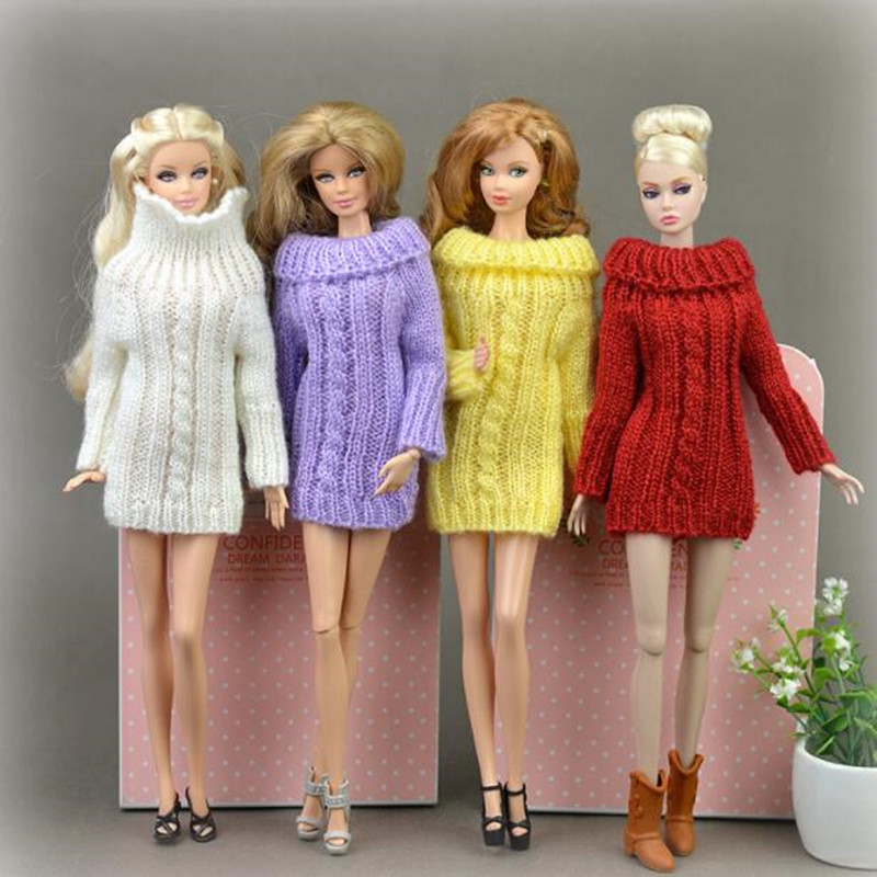 CXZYKING Fashion Styles Gifts For Girls Suit Knitted Handmade Sweater Tops Barbie Coat Dress Clothes For Doll Accessories 30 new styles festival gifts top trousers lifestyle suit casual clothes trousers for barbie doll 1 6 bbi00636
