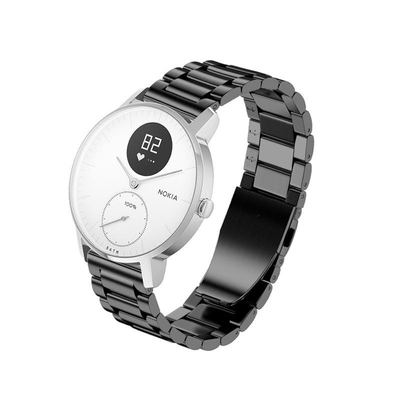 Correa de reloj de correa de acero inoxidable de liberación rápida para Nokia Withings Steel HR GDeals