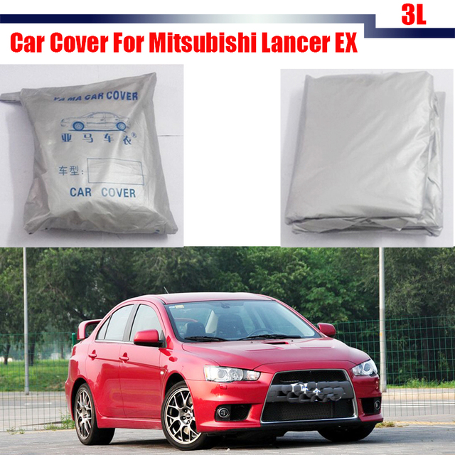 Car Cover UV Anti Rain Sun Snow Resistant Protector Sun Shade Cover Dustproof For Mitsubishi Lancer EX