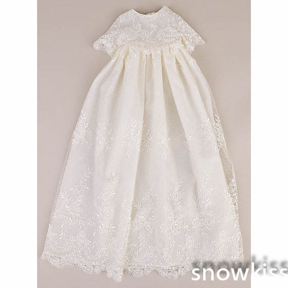 Royal Newborn Heirloom Dedication Christening Gown Toddlers Blessing ...