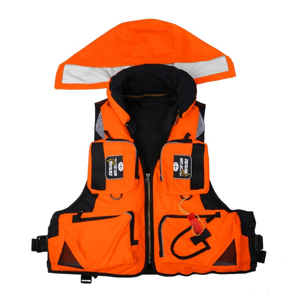 Outdoor Multi Bag Fishing Vest Unisex Adult Safety Life Jacket For Water Sports Drifting Boating Sailing Kayak Survival Swimwear