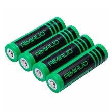 AIMIHUO 18650 3.7 v 3000 mah Célula de Bateria Recarregável Lanterna bateria farol