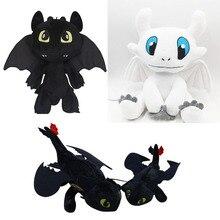 25-55cm Anime How to Train Your Dragon 3 plush toys Toothless plush Night Fury White Dragon stuffed animal doll toy kids gift цена 2017