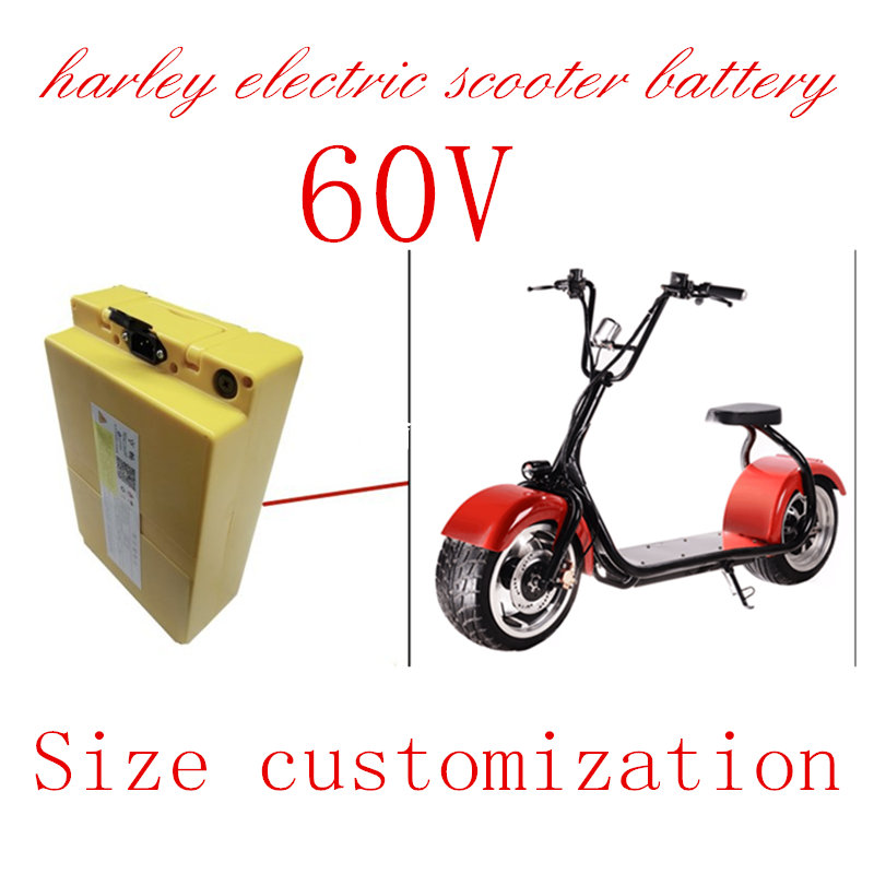 60v 20ah harley electric scooter battery for 1000w  electric motor with charger citycoco e bike comfortable 1000w harley electric scooter