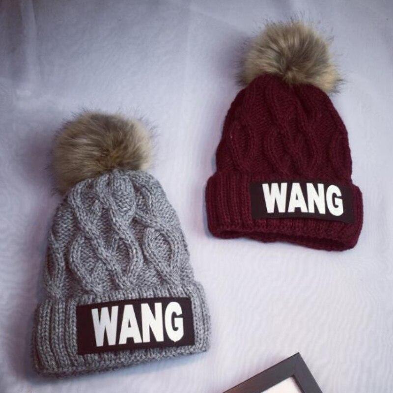 ht hot twisted winter knit hats for women new fur pompom beanies warm winter cap women