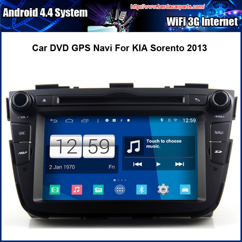 Android 4.4 1024*600 Capacitive Screen Car DVD GPS For KIA Sorento 2013 With Radio Bluetooth USB/SD (NO Canbus))