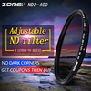 ZOMEI Slim Adjustable Neutral Density ND2 400 Filter For Canon Nikon Camera Lens 49 52 55