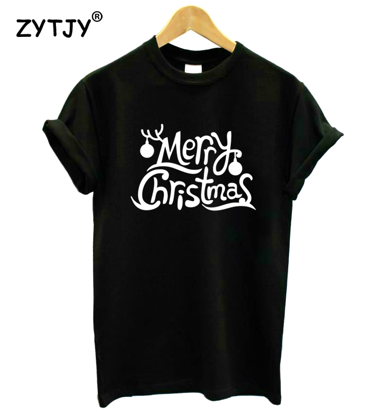 Merry Christmas Letter T.Us 4 95 50 Off Merry Christmas Letters Print Women Tshirt Cotton Casual Funny T Shirt For Girl Top Tee Hipster Tumblr Drop Ship Hh 21 In T Shirts