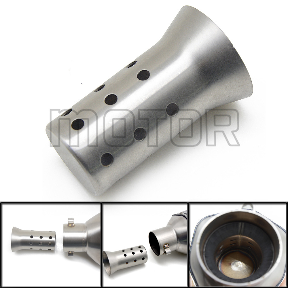 51mm DB Killer Silencer Exhaust Pipe Muffler Noise Sound Eliminator For Honda YAMAHA Kawasaki Suzuki BMW With Stainless Steel in Exhaust Exhaust Systems from Automobiles Motorcycles