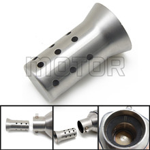 51mm DB Killer Silencer Exhaust Pipe Muffler Noise Sound Eliminator For Honda YAMAHA Kawasaki Suzuki BMW With Stainless Steel 51mm universal motorcycle exhaust middle pipe muffler db killer silencer for honda cbr500 500r 500x 2012 2015 stainless steel