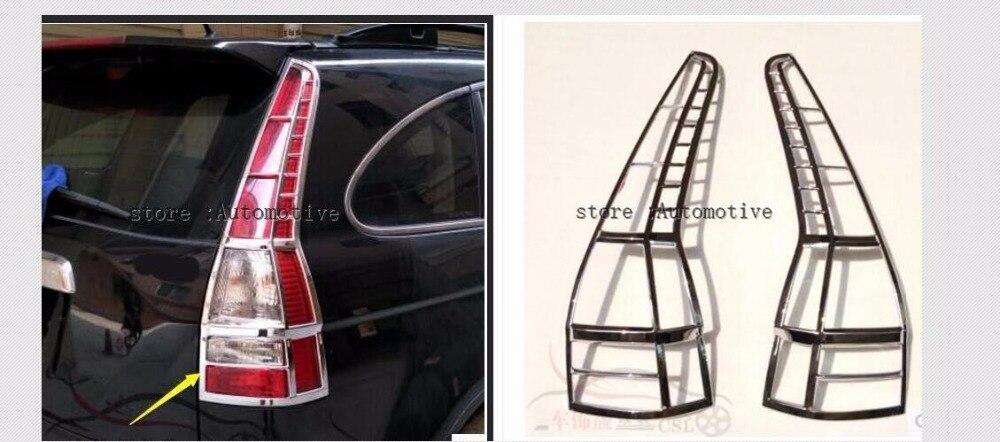 High Quality Chrome Head Light Cover for Honda CRV 2007 2008 2009 2010 2011 Up Free