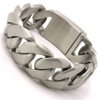 BC0061 174g 25MM Dull Polish Cool Man Bracelet 316L Stainless Steel USA Biker Style Top Quality Valentine's Day Gift