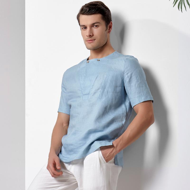 Tremendous Aliexpress Com Buy Chinese Style Clothing Tops Linen Shirts Short Hairstyles Gunalazisus
