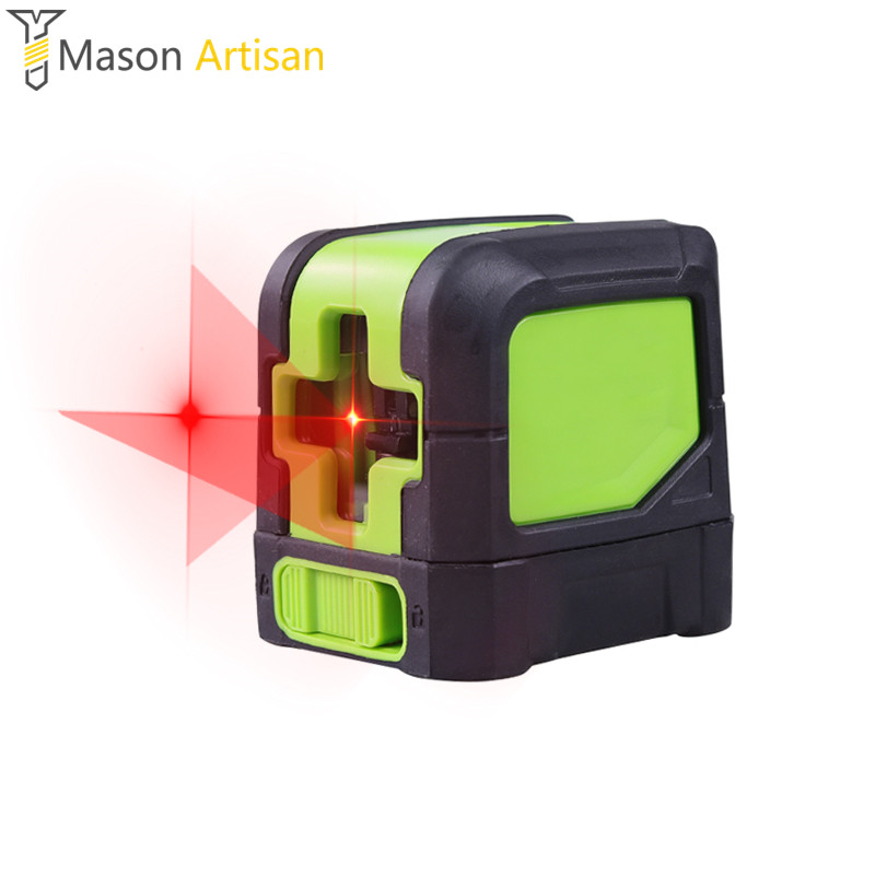 2Line Laser Level Magnetic Support Cross Line Laser Level Red Line 1V1H 2Point 2*AA Battery Not Included Leveling Tools high quality southern laser cast line instrument marking device 4lines ml313 the laser level