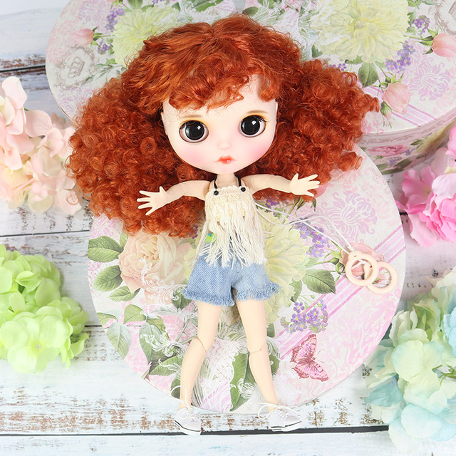 Blyth Doll 1/6 Joint Body hand painted matte face white skin Super cute explosio head suit 30cm DIY BJD SD toys gift AB hand set