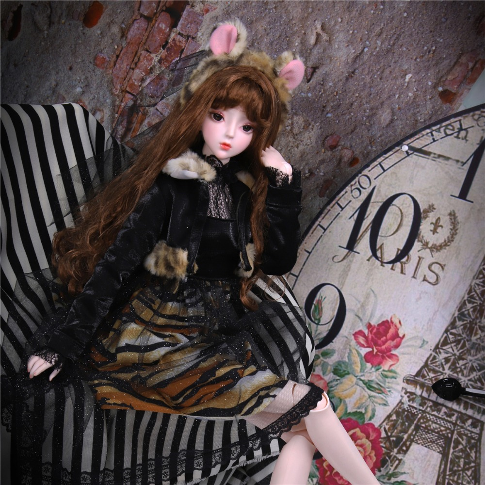 1/3 Bjd Doll Joint Body Doll With Hair Dress Shoes Headdress, Name By Amber SD Toy DC Gift For Girl, 62cm