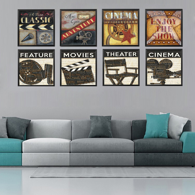 Aliexpress.com : Buy Modern Paintings Movie Filming Acting Canvas ...