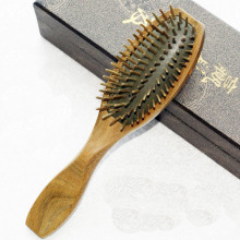 1PC Green sandalwood airbag comb health jade sandalwood brush comb Sandalwood massage comb SE13