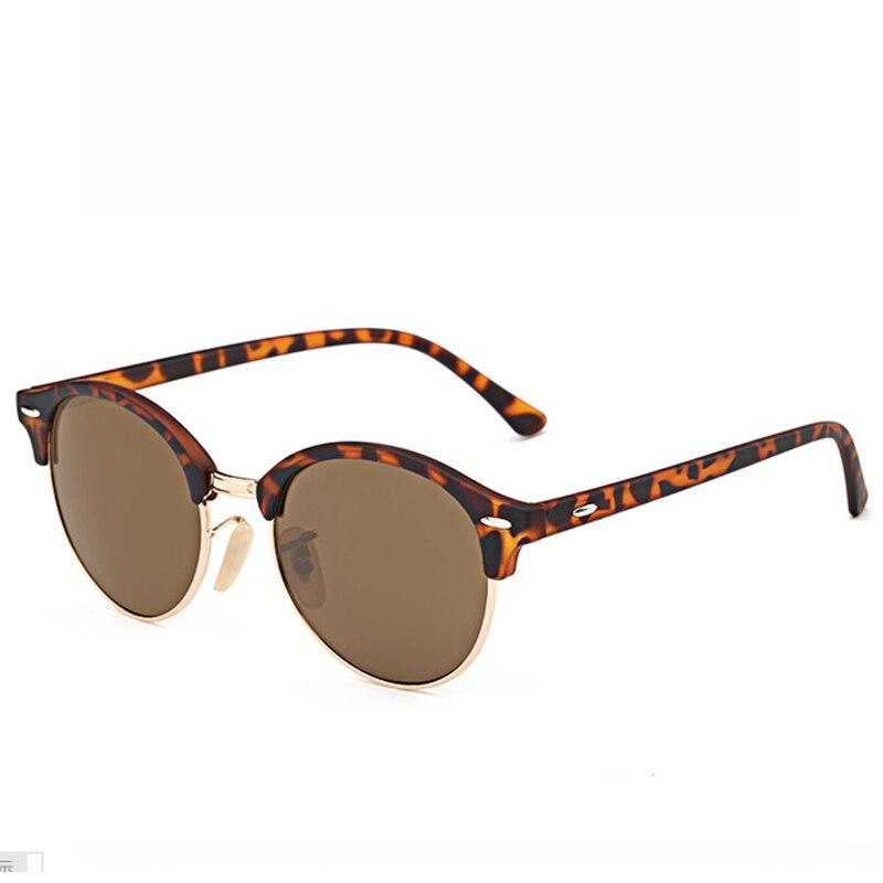 6df9628e78bd Fashion Round Half Frame Sunglasses Women Men Brand Designer 2019 Luxury  Mirror Sun Glasses for Women
