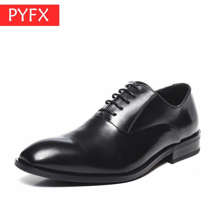 Fall 2019 New Japanese Style Gentlemen Suit Business Leisure Flat Bottom Comfortable Black Luxury mens Leather Shoes  Italian