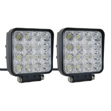 2pcs 4 inch 48W LED Work Light Bar for Off road Car Truck Tractor Boat 9-32V DC 2300LM Spot Flood