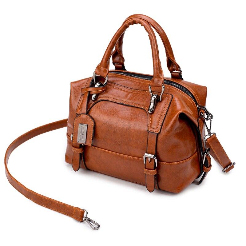 Boston Female Shoulder Bags Handbags Women Designer PU Leather Tote Bag Belts Bags Ladies
