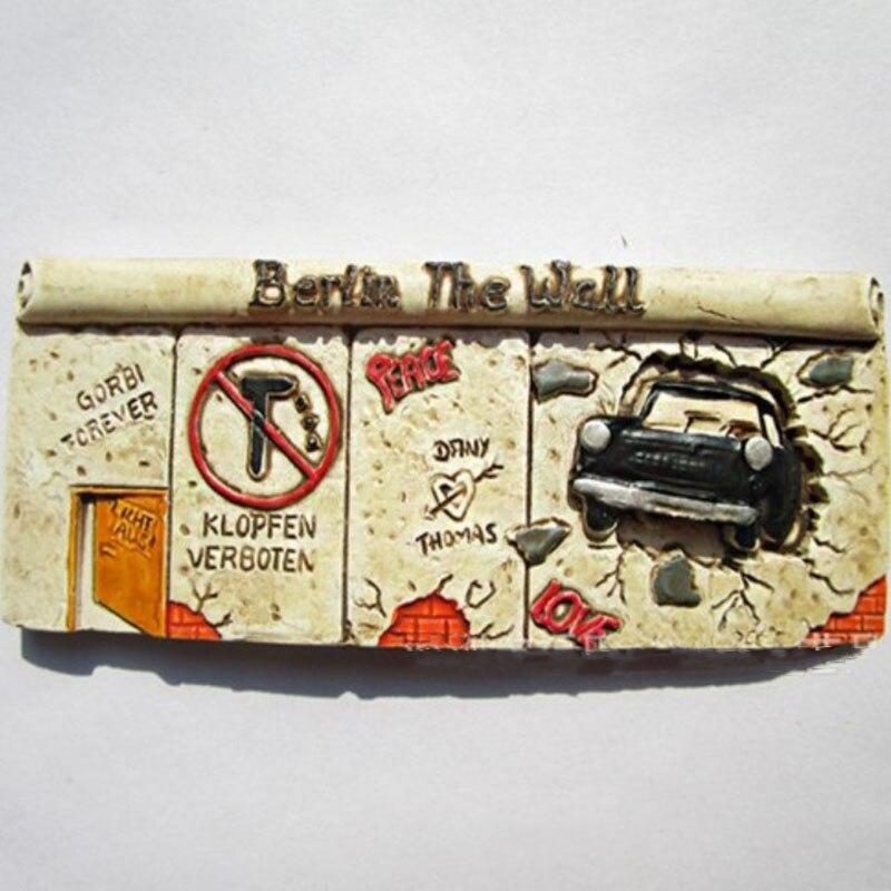 1 Pc vente Chaude Berlin Allemagne Défense Mur 3D Réfrigérateur Aimants Tourisme Souvenirs Réfrigérateur Magnétique Autocollant