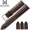 MAIKES Jacaré Luxo Pulseira 18mm 19mm 20mm 22mm Top Qualidade Genuína Pulseira De Couro de Crocodilo Caso para Tissot Mido