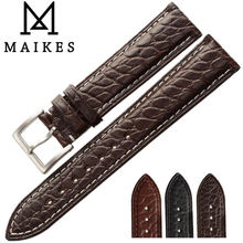 MAIKES Luxury Alligator Watchband 18mm 19mm 20mm 22mm Top Quality Genuine Crocodile Leather Watch Strap Case For Tissot  Mido все цены