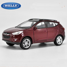 1:36 Scale Hyundai Tucson IX35 Diecast Alloy Car Model Toy With Pull Back Educational Collection For Kids Gift Free Shipping(China)