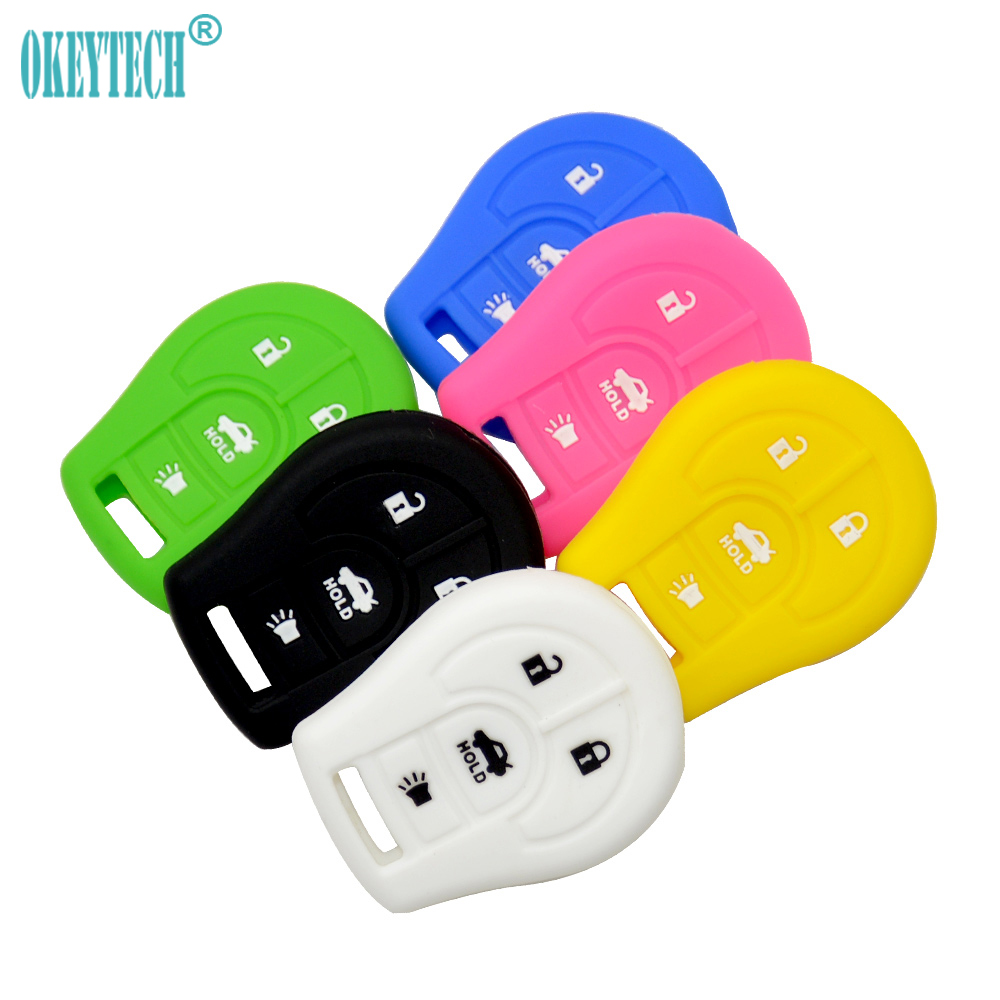 Okeytech Best Soft Silicone Rubber 4 Buttons Car Key Fob